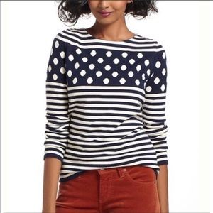 SPARROW {Anthro} Polka Dot Cashmere Blend Sweater